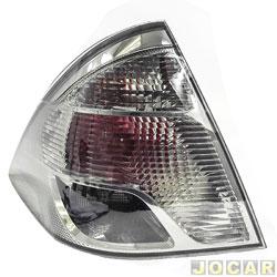 Lanterna traseira - Original Ford - Fiesta Sedan 2011 em diante - fum� - lado do motorista - traseiro - cada (unidade) - BS65/13A603/BD