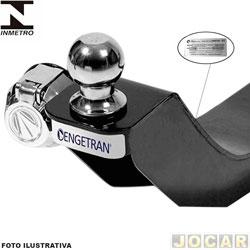 Engate para reboque - Fiesta sedan 2013 em diante - não fura, com esfera e tomada cromadas - preto - traseiro - cada (unidade)