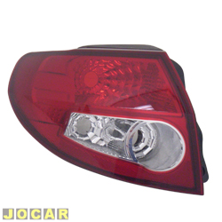 Lanterna traseira - Original Ford - Ka 2009 at� 2014 - vermelha e branca - lado do motorista - cada (unidade) - 7S5513405AC