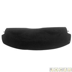 Tampão do porta-malas - alternativo - Plastiron/Autimex - Ka 1997 até 2007 - de plástico com carpete preto - sem cordinha - cada (unidade) - 42054