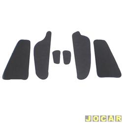 Anti-ruído do capô - Toroflex / Vibrac System - Ka 2009 até 2014 - auto-adesivo - preto - jogo - 03465