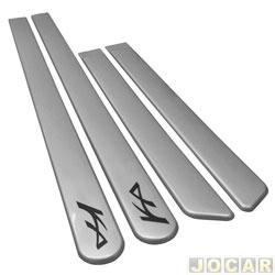Friso lateral - alternativo - KA 2009 até 2014 - prata enseada - autoadesivo - jogo