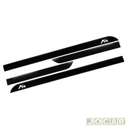 Friso lateral - alternativo - Ka 2015 em diante - com nome - auto colante - preto - jogo