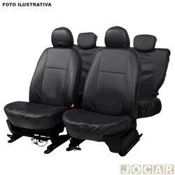 Capa para banco - Car Fashion - Ka 2014 em diante - Courvin - Preto - jogo - 6208