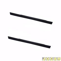Spoiler lateral - alternativo - Uno 1984 at� 2004 - 2 portas  - preto - par
