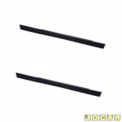Spoiler lateral - alternativo - Uno 1984 até 2004 - 2 portas  - preto - par