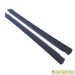 Spoiler lateral - alternativo - Palio 1996 at� 1998 - 4 portas - preto - par