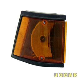 Lanterna dianteira - alternativo - JCV Lanternas - Spazio 1983 até 1988 - âmbar (amarela) - lado do passageiro - cada (unidade) - 2522.12