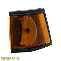 Lanterna dianteira - alternativo - JCV Lanternas - Spazio 1983 até 1988 - âmbar (amarela) - lado do motorista - cada (unidade) - 2523.12
