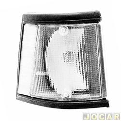 Lanterna dianteira - alternativo - JCV Lanternas - Spazio 1983 até 1988 - branca - lado do passageiro - cada (unidade) - 2522.42