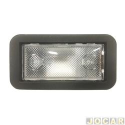Lanterna de teto - alternativo - Fiorino/Uno - 2005 até 2010 - moldura preta - cada (unidade)