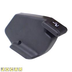 Manopla que levanta o banco - alternativo - Uno/Prêmio/Elba até 1990 - com um furo para fixação - preta - lado do motorista - cada (unidade)