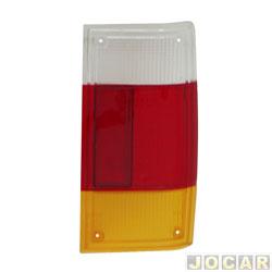 Lente da lanterna traseira - alternativo - Artmold - Panorama - 1980 até 1986 - tricolor - lado do passageiro - cada (unidade) - 1260