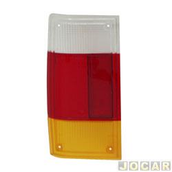 Lente da lanterna traseira - alternativo - Artmold - Panorama - 1980 até 1986 - tricolor - lado do motorista - cada (unidade) - 1259