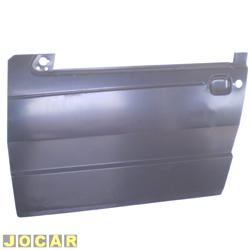 Folha de porta - alternativo - Uno 1984 até 2004 - Premio/Elba 1985 até 1996 - Fiorino - 1987 até 2004 - 4 portas - para pintar - dianteiro - lado do motorista - cada (unidade)