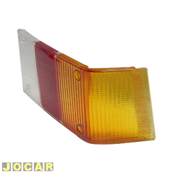 Lente da lanterna traseira - alternativo - Acrilux - Spazio 1981 at� 1986 - curva - tricolor - lado do passageiro - cada (unidade) - 363321