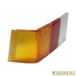 Lente da lanterna traseira - alternativo - Acrilux - Spazio 1981 at� 1986 - curva - tricolor - lado do motorista - cada (unidade) - 363311