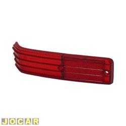 Lente da lanterna traseira - alternativo - Artmold - 147/Europa 1976 até 1983 - superior - vermelha - lado do motorista - cada (unidade) - 1203