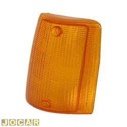 Lente da lanterna dianteira - alternativo - Uno/Prêmio/Fiorino/Elba - 1984 até 1990 - âmbar (amarela) - lado do motorista - cada (unidade)