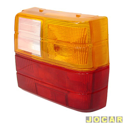 Lente da lanterna traseira - Hawk Lanternas - Uno 1984 até 2004 - tricolor - lado do passageiro - cada (unidade) - 401473