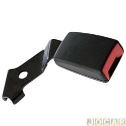 Trava do cinto de segurança - alternativo - Palio/weekend/Siena/Strada - 1996 até 2000  - 938.10 - preto - lado do motorista - cada (unidade)