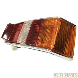 Lanterna traseira - alternativo - Acrilux - Spazio 1981 até 1986 - tricolor - lado do passageiro - cada (unidade) - 2124-21