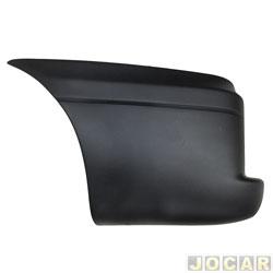 Ponteira do para-choque traseiro - Original Fiat - Doblò 2001 até 2009 - preto - lado do motorista - cada (unidade) - 976.764.06