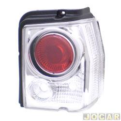 Lanterna traseira tuning - alternativo - Inovox (RCD) - Tipo 1993 até 1997 - linha Evolution  - cristal (branca) - lado do passageiro - cada (unidade) - I2492