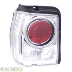 Lanterna traseira tuning - alternativo - Inovox (RCD) - Tipo 1993 até 1997 - linha Evolution  - cristal (branca) - lado do motorista - cada (unidade) - I2493
