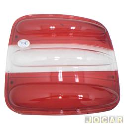 Lente da lanterna traseira - alternativo - Hawk Lanternas - Brava 1999 at� 2003 - vermelha - lado do passageiro - cada (unidade) - 2538.21