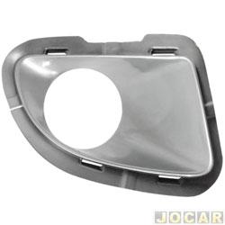 Moldura do farol de milha - alternativo - Punto 2007 até 2012 - com furo para farol - prata - lado do passageiro - cada (unidade)