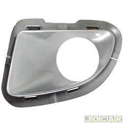 Moldura do farol de milha - alternativo - Punto 2007 até 2012 - com furo para farol - prata - lado do motorista - cada (unidade)