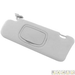 Quebra-sol - alternativo - Stilo 2002 até 2010 - com espelho - cinza - lado do motorista - cada (unidade)