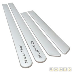 Friso lateral - alternativo - Punto 2012 em diante - prata Bari - auto colante - jogo