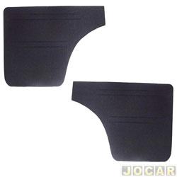 Revestimento lateral traseiro - alternativo - 147/Europa/Spazio 1976 até 1988 - veludo - preto - par