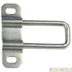 Batente da fechadura do capô traseiro - alternativo - Doblo 2002 em diante  - Baú - traseiro - cada (unidade)