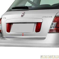 Friso aplique do capô traseiro - Sport Inox - Stilo 2002 até 2011 - auto colante - resinado - aço escovado - cada (unidade) - FT006FSIE