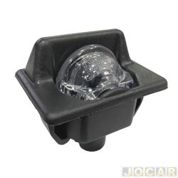 Lanterna da placa - alternativo - Uno 1984 até 2004 - preta - cada (unidade)