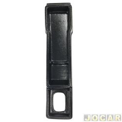 Console - alternativo - Uno/Fiorino/Prêmio/Elba 1984 até 1994 - moldado em plástico - preto - cada (unidade)