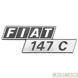 Letreiro - alternativo - Marçom - 147 - 1976 até 1988 - Fiat 147 C - cola - cada (unidade) - 0502