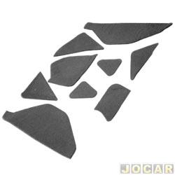 Anti-ruído do capô - Toroflex / Vibrac System - Vibrac sistem - Uno 1984 até 2004 - Prêmio/Elba 1985 até 1996-Fiorino 1987 até 2004-auto-adesivo - preto - jogo - 00875