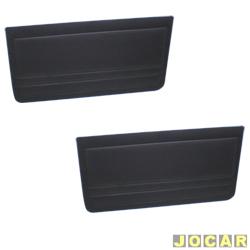 Revestimento de porta - alternativo - Uno 1984 até 2004 - Prêmio/Elba - 1984 até 1993 - 2 portas  - preto - par