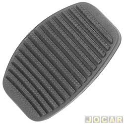 Capa de pedal - alternativo - Uno/Premio/Elba/Fiorino/ Palio/Dobló/Siena/Strada - freio e embreagem - todos - preto - cada (unidade)