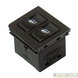 Interruptor do vidro - Uno 1984 at� 2010 - Pr�mio/Elba - 1985 at� 1996  - Fiorino 1987 at� 2010 - duplo - preto - cada (unidade)