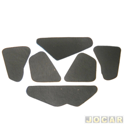 Anti-ruído do capô - Toroflex / Vibrac System - Palio/Weekend/Siena/Strada 1996 até 2000 - auto-adesivo - preto - jogo - 00822