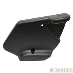 Manopla que levanta o encosto do banco - alternativo - Uno 1991 até 2010 - Elba 1991 até 1996 - 2 furos de fixação - preta - lado do motorista - cada (unidade)