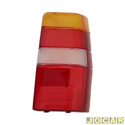 Lente da lanterna traseira - alternativo - RN Lanternas - Fiorino 1986 até 2004 - Elba - modelo M.Carto - tricolor - lado do passageiro - cada (unidade) - 0838ACR