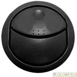 Entrada de ar do painel - alternativo - Novo Uno 2011 até 2014 - primeira versão - preto - central - cada (unidade)