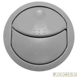 Entrada de ar do painel - alternativo - Novo Uno 2011 até 2015 - primeira versão - lateral - cinza - cada (unidade)