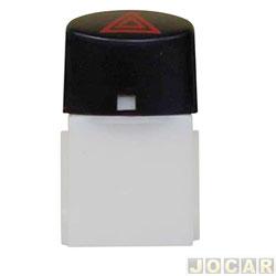 Interruptor de emergência - alternativo - Uno 2011 em diante - Fiorino 2013 em diante - Botão Preto - cada (unidade)